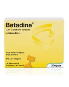 Betadine Soluzione Cutanea 10 Flaconcini Monouso 10ml