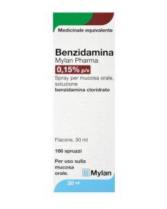Benzidamina Mylan 0,15% 30 Ml 166d