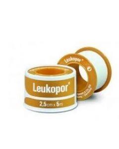 Cerotto In Rocchetto Leukopor Ipoallergenico Bianco 2,5 X 500 Cm