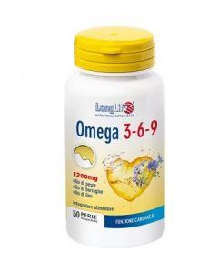 Longlife Omega 3-6-9 Integratore Alimentare 50 Perle