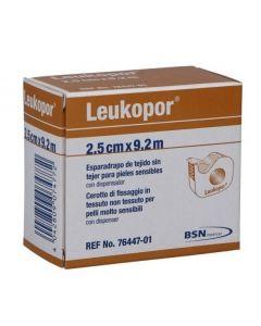 Cerotto In Rocchetto Leukopor Ipoallergenico Tessuto Non Tessuto Bianco 2,5X920 Cm Con Dispenser