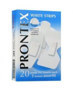 Cerotto Prontex White Strips Astuccio 20 Pezzi 3 Formati Assortiti