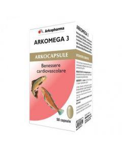 Arkopharma Arkomega 3 Colesterolo Integratore Alimentare 50 Capsule