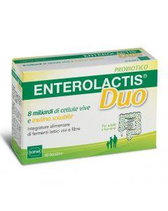 Enterolactis Duo Polvere 10 Bustine Integratore Alimentare Di Fermenti Lattici Vivi E Fibr