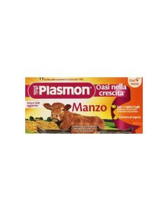 Plasmon Omogeneizzato Manzo 80gx2 Pezzi