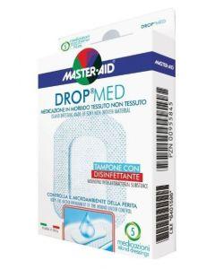 MEDICAZIONE COMPRESSA AUTOADESIVA DERMOATTIVA IPOALLERGENICA AERATA MASTER-AID DROP MED 10,5X15 5 PEZZI