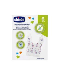 Chicco Easy Meal Bavaglini Monouso +6mesi 40 Pezzi
