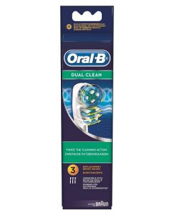 Oral-b Dual Clean Testine Di Ricambio Per Spazzolino Elettrico 3 Ricambi