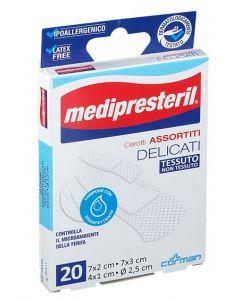 Cerotto Medipresteril Cerotti Delicati Assortiti 4 Formati 20 Pezzi