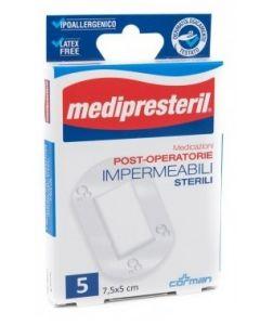 Medicazione Medipresteril Post Operatoria Impermeabile Sterile 7,5x5cm 5 Pezzi