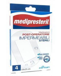 Medicazione Medipresteril Post Operatoria Impermeabile Sterile 10x15cm 4 Pezzi