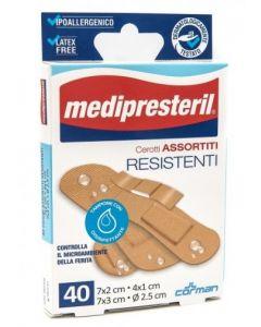 Cerotto Medipresteril Resistenti Confezione Assortita 4 Formati 40 Pezzi