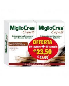 MIGLIOCRES capelli 60+60 CAPSULE 60 G PROMOZIONE