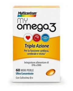 Multicentrum My Omega3 Integratore Alimentare 60 Mini Perle