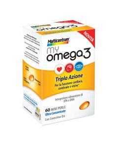 Multicentrum My Omega3 Integratore Alimentare 60 Mini Perle