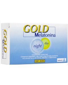 Alcka Med Gold Melatonina Night Day - Integratori 60 Compresse Da 1 Mg