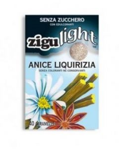 Zigulì Zigulight Anice Liquirizia Caramelle Senza Zucchero 40 Pezzi