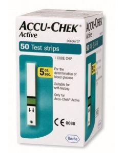 Strisce Misurazione Glicemia Accu-Chek Active Strips 50 Pezzi