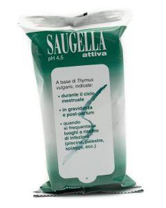 Saugella Attiva Salviettine Detergenti 15 Pezzi