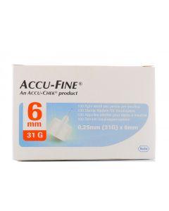 Accu-Fine Ago Per Penna da Insulina 31g X 6Mm 100 Pezzi
