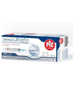 Pic Siringa Ultrafin 2,5Ml G23 1/4 10 Pezzi