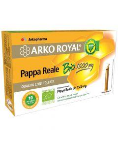 ArkoRoyal Pappa Reale Bio 1500mg Integratore Alimentare 10 Flaconcini Monodose
