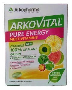 Arkovital Pure Energie Multivitamins Integratore Alimentare 30 Compresse