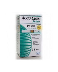 Strisce Misurazione Glicemia Accu-chek Active 25 Pezzi