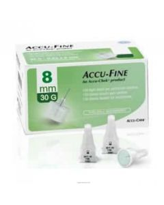 Ago Per Penna Da Insulina Accu-fine Pen Needle Accu-chek Gauge 30 X 8mm 100 Pezzi