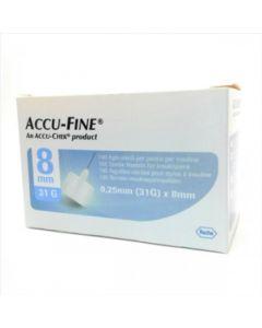 Accu-Fine Ago Per Penna da Insulina 31g X 8Mm 100 Pezzi