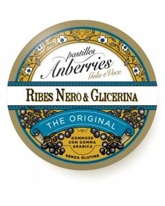 ANBERRIES CLASSICHE RIBES NERO & GLICERINA CARAMELLE 55 G