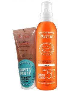 Eau Thermale Avene Confezione Speciale Spray 50+ Con Trixera Nutrition Detergente 100 Ml