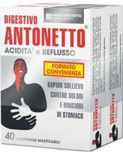 DIGESTIVO ANTONETTO ACIDITA' E REFLUSSO 80 COMPRESSE MASTICABILI