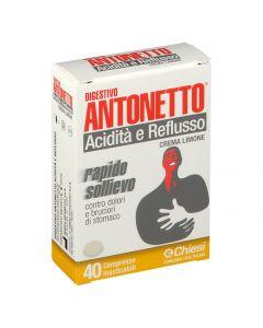 Marco Antonetto Digestivo Antonetto Acidità E Reflusso Crema Limone 40 Compresse Masticabili