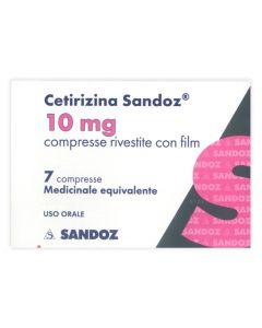Cetirizina Sandoz 7 Compresse Rivestite 10mg