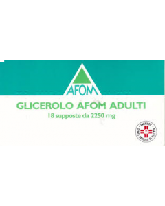 Afom Glicerolo Adulti Lassativo 2250mg 18 Supposte