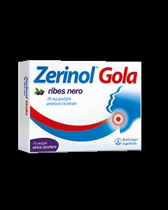 Zerinol Gola 20mg Ribes Nero 18 Pastiglie
