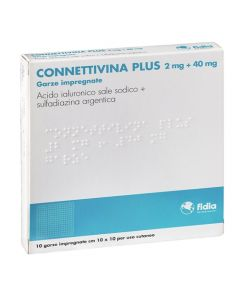 Fidia Connettivina Plus 2mg + 40mg 10 Garze Dimensioni 10x10