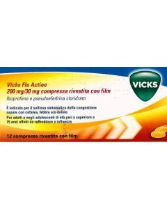 VICKS FLU ACTION 200 MG/30 MG COMPRESSE RIVESTITE CON FILM