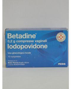 Betadine 200mg 10 Compresse Vaginali