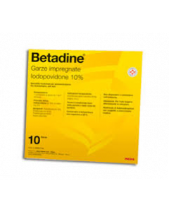 Meda Betadine 10 Garze Impregnate 10x10cm