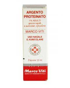 Argento Proteinato Marco Viti1% Gocce Nasali E Auricolari 10ml