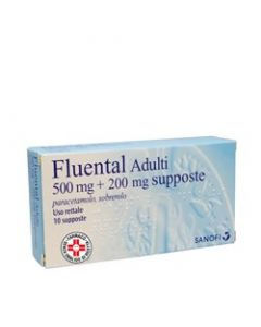Fluental 500mg+200mg 10 Supposte