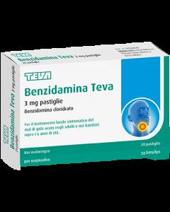Benzidamina Teva*20pastl 3mg