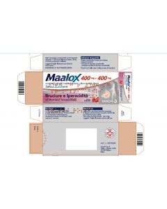 Maalox 400 Mg + 400 Mg Compresse Masticabili Senza Zucchero